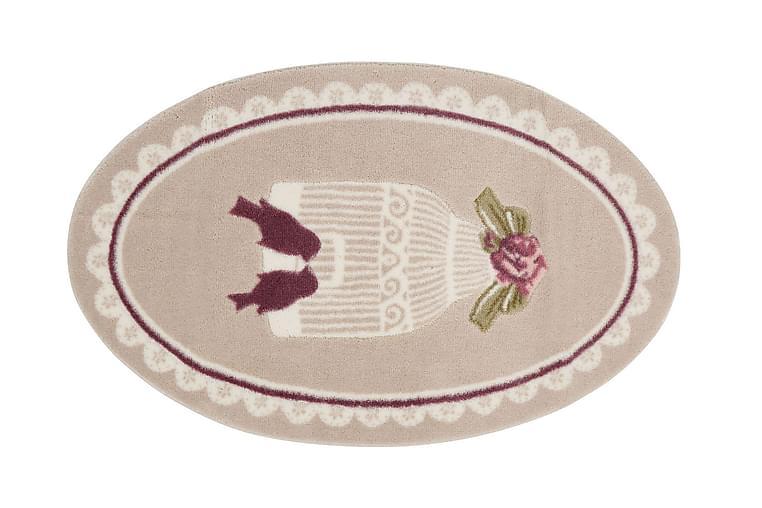 Kylpymatto Confetti 66x107 - Beige/Liila/Vihreä - Sisustustuotteet - Kodintekstiilit - Kylpyhuoneen tekstiilit