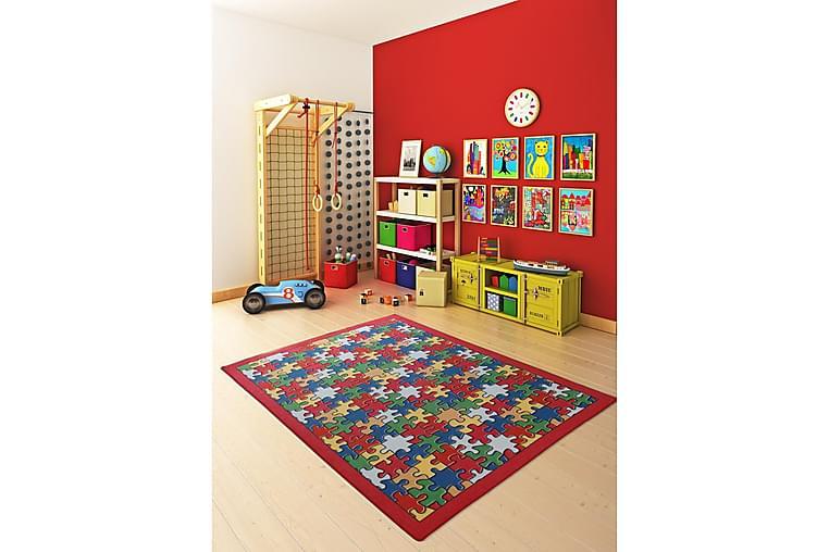 Lastenmatto Jabealo 200x290 cm - Punainen - Sisustustuotteet - Matot - Lasten matot