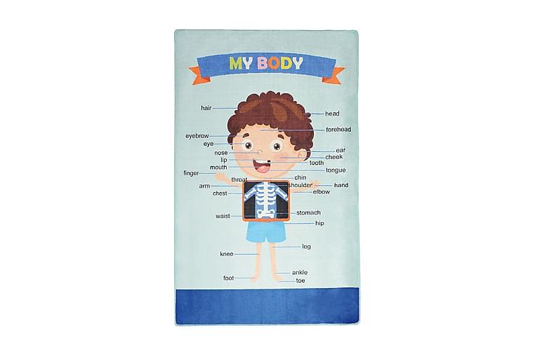 Lastenmatto Mybody 200x290 cm - Monivärinen / Sametti - Sisustustuotteet - Matot - Lasten matot