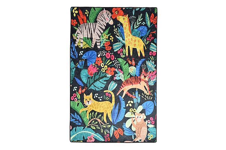 Lastenmatto Zoo 100x160 cm - Monivärinen / Sametti - Sisustustuotteet - Matot - Lasten matot