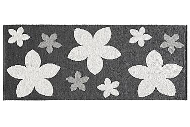 Muovimatto Flower 70x200 Käännettävä PVC Musta