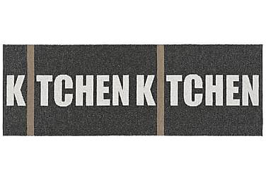 Muovimatto Kitchen 70x100 Käännettävä PVC Musta