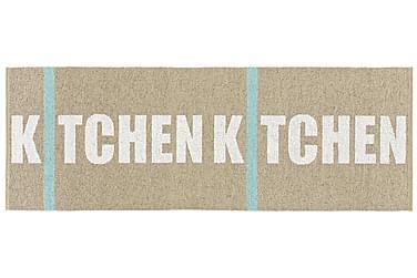 Muovimatto Kitchen 70x200 Käännettävä PVC Beige