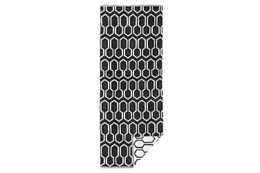 Muovimatto Nikko 140x200 cm musta/valkoinen