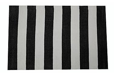 Muovimatto Riitta 60x90 cm musta/valkoinen
