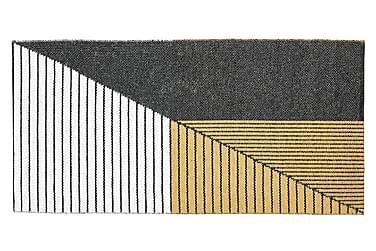 Muovimatto Stripe 70x140 Käännettävä PVC Musta/Keltainen
