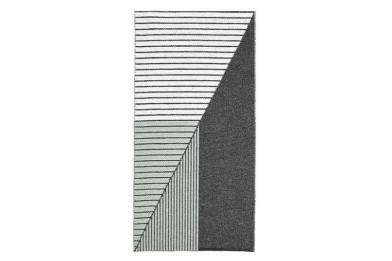 Muovimatto Stripe 70x210 Käännettävä PVC Musta/Vihreä - Horredsmattan - Sisustustuotteet - Matot - Muovimatot
