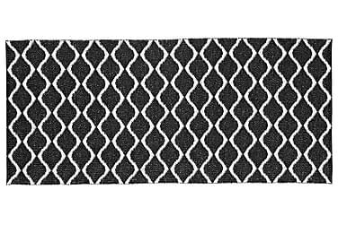 Muovimatto Wave 70x300 Käännettävä PVC Musta