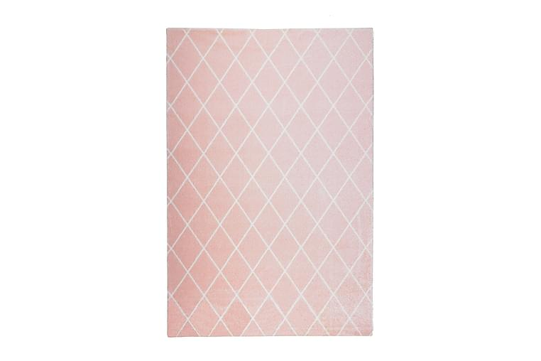 Matto Salmiakki 80x150 cm Roosa/Valkoinen - VM Carpet - Sisustustuotteet - Matot - Nukkamatot
