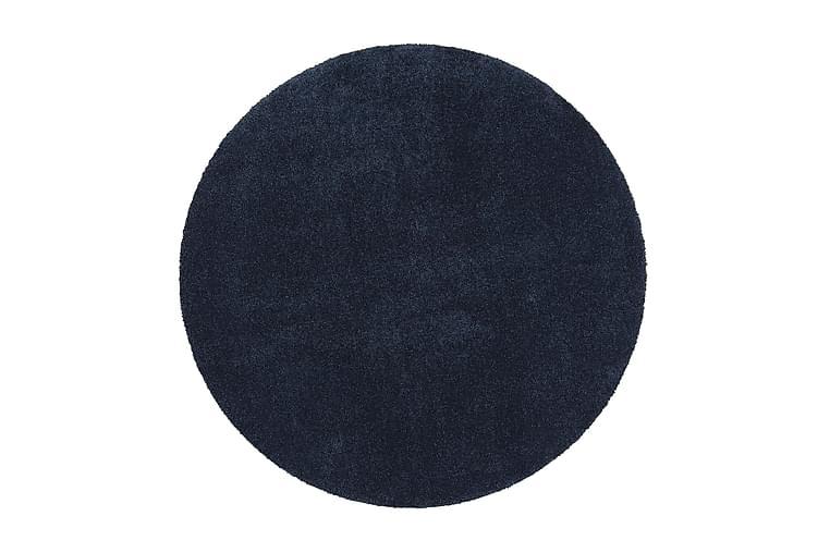 Matto Silkkitie Pyöreä 160 cm Tummansininen - VM Carpet - Sisustustuotteet - Matot - Pyöreät matot