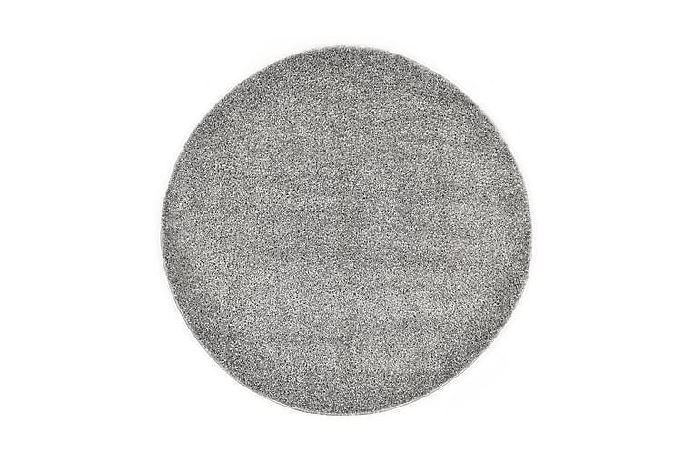 Shaggy-matto 160 cm harmaa - Harmaa - Sisustustuotteet - Matot - Pyöreät matot