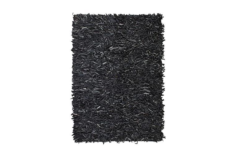 Shaggy-matto aito nahka 80x160 cm harmaa - Harmaa - Sisustustuotteet - Matot - Nukkamatot