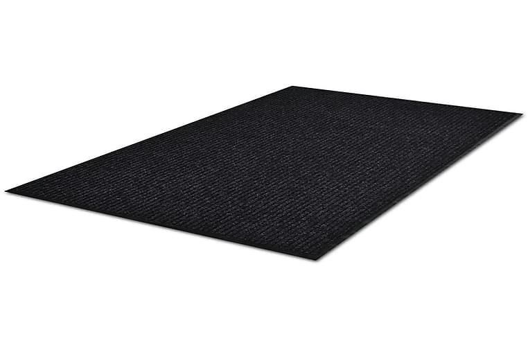 Musta PVC Ovimatto 90 x 60 cm - Musta - Sisustustuotteet - Matot - Eteisen matot & kynnysmatot