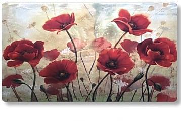 Valokuvamatto Flower 44x73 - Punainen/Beige - Sisustustuotteet - Matot - Eteisen matot & kynnysmatot