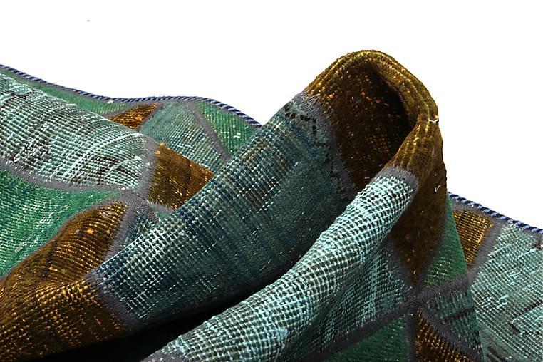 Käsinsolmittu Tilkkumatto Villa/Lanka Moniväri 107x152cm - Sisustustuotteet - Matot - Patchwork-matot