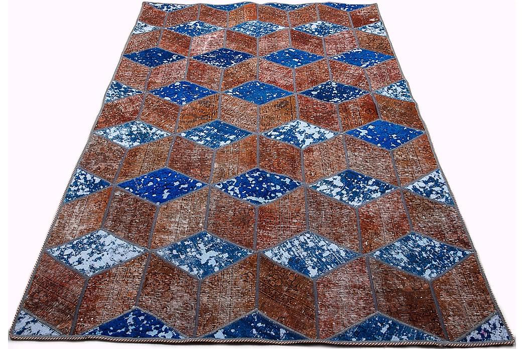 Käsinsolmittu Tilkkumatto Villa/Lanka Moniväri 145x216cm - Sisustustuotteet - Matot - Patchwork-matot