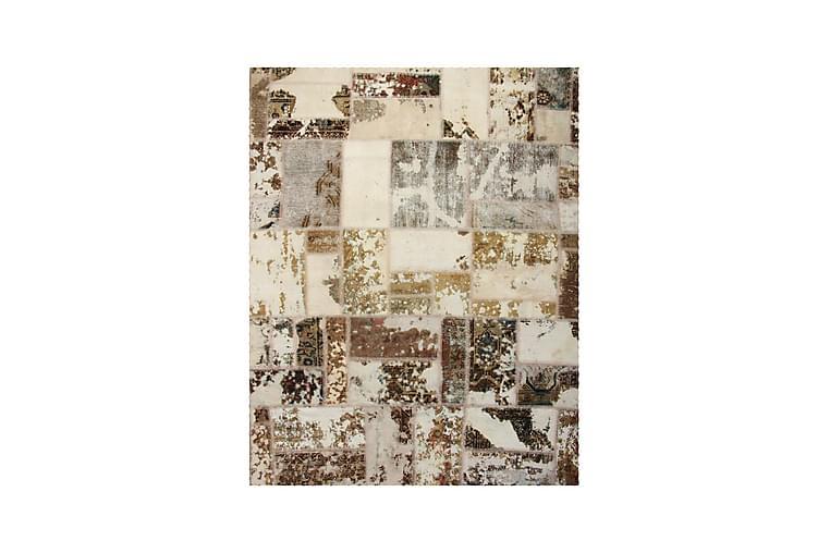 Käsinsolmittu Tilkkumatto Villa/Lanka Moniväri 175x220cm - Sisustustuotteet - Matot - Patchwork-matot