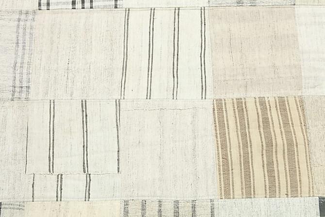 Kelimmatto Patchwork 249x347 Suuri - Beige/Valkoinen - Sisustustuotteet - Matot - Patchwork-matot