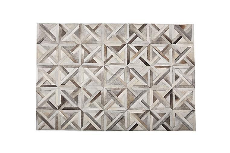 Matto Gonousa 160x230 cm - Nahka / beige / ruskea - Sisustustuotteet - Matot - Patchwork-matot