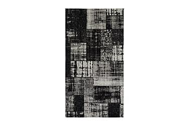 Matto Stracciatella 80x200 Musta / Valkoinen