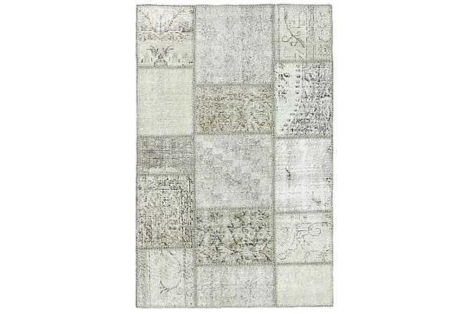 Patchworkmatto Black & White 100x153 Moderni - Beige/Harmaa - Sisustustuotteet - Matot - Patchwork-matot