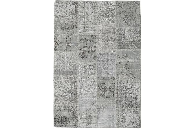 Patchworkmatto Black & White 137x203 Moderni - Harmaa - Sisustustuotteet - Matot - Patchwork-matot