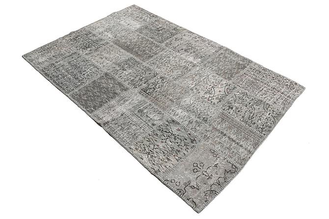 Patchworkmatto Black & White 139x204 Moderni - Harmaa - Sisustustuotteet - Matot - Patchwork-matot