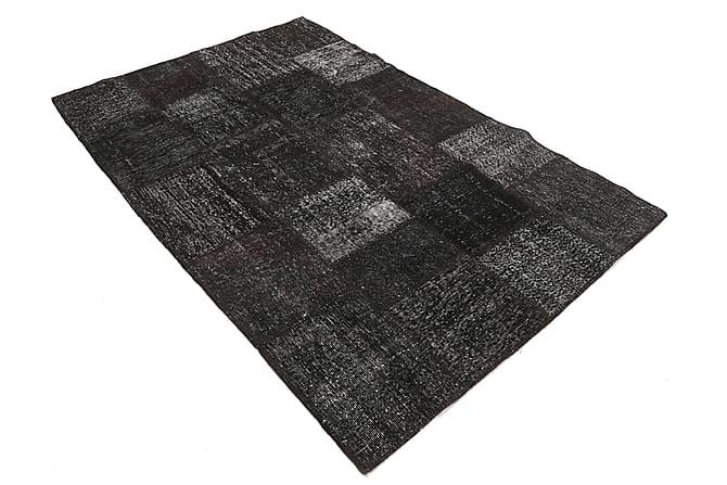 Patchworkmatto Black & White 158x232 Moderni - Harmaa - Sisustustuotteet - Matot - Patchwork-matot
