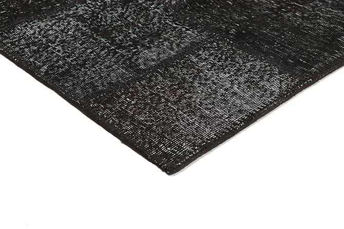Patchworkmatto Black & White 158x234 Moderni - Harmaa - Sisustustuotteet - Matot - Patchwork-matot