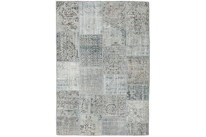 Patchworkmatto Black & White 160x231 Suuri Moderni - Harmaa - Sisustustuotteet - Matot - Patchwork-matot