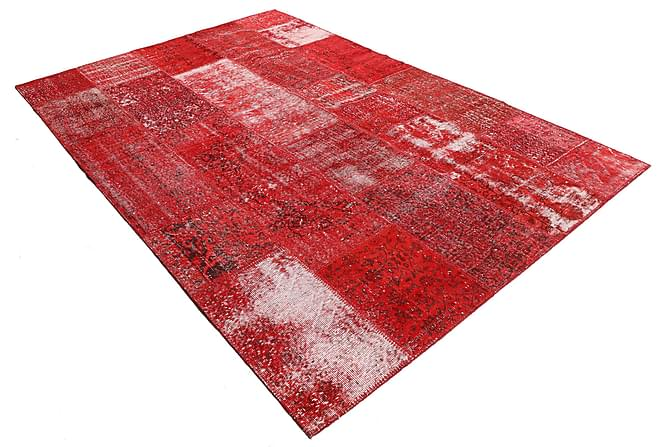 Patchworkmatto Black & White 203x298 Suuri Moderni - Punainen - Sisustustuotteet - Matot - Patchwork-matot