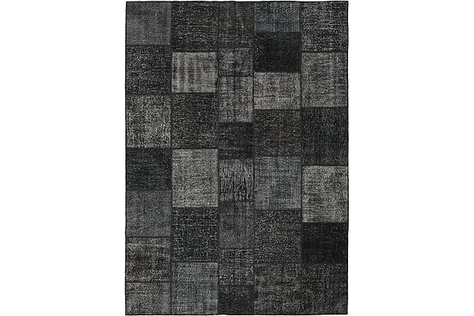 Patchworkmatto Black & White 251x350 Suuri Moderni - Harmaa - Sisustustuotteet - Matot - Patchwork-matot