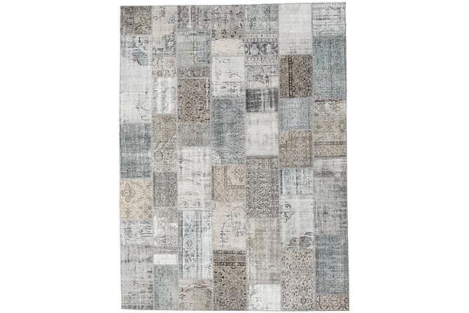Patchworkmatto Black & White 273x369 Suuri Moderni - Beige/Harmaa - Sisustustuotteet - Matot - Patchwork-matot