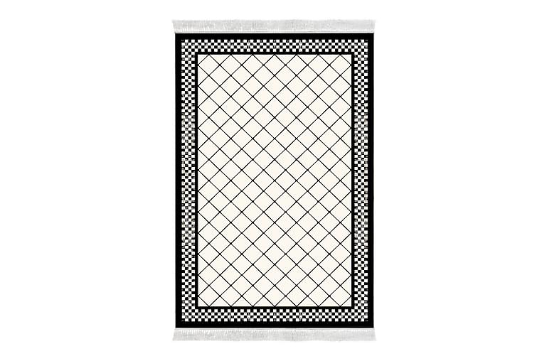 Matto Alanur Home 80x200 cm - Valkoinen/Musta - Sisustustuotteet - Matot - Pienet matot