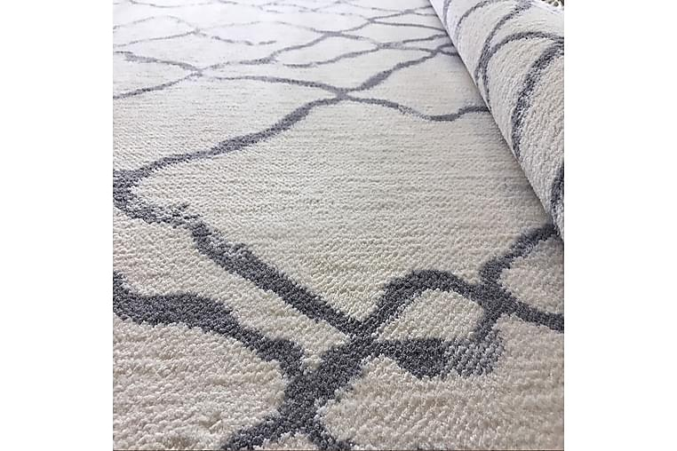 Matto Rubinas 80x550 cm - Valkoinen/Harmaa - Sisustustuotteet - Matot - Pienet matot