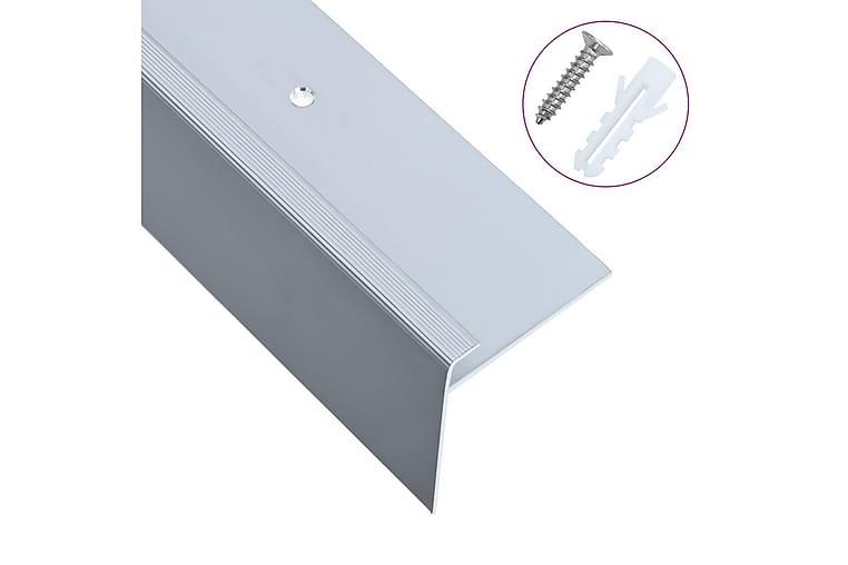 F-muotoiset portaikon suojukset 15 kpl alumiini 100 cm hopea - Hopea - Sisustustuotteet - Matot - Porrasmatot