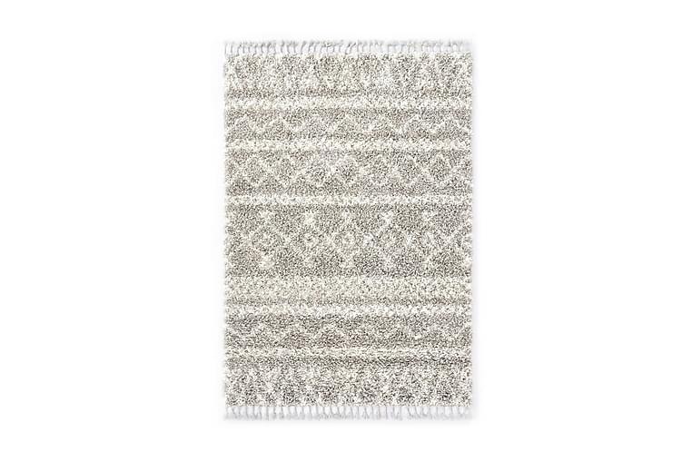 Matto berberi pörröinen PP hiekka ja beige 140x200 cm - Beige - Sisustustuotteet - Matot