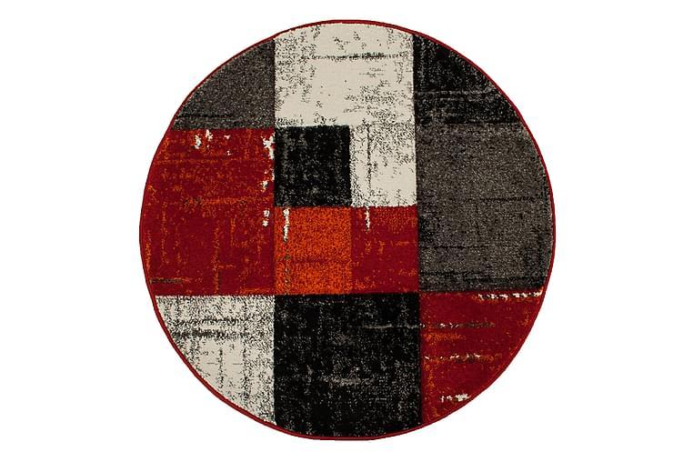 Friezematto London Square Pyöreä 120 - Punainen/Oranssi - Sisustustuotteet - Matot - Pyöreät matot