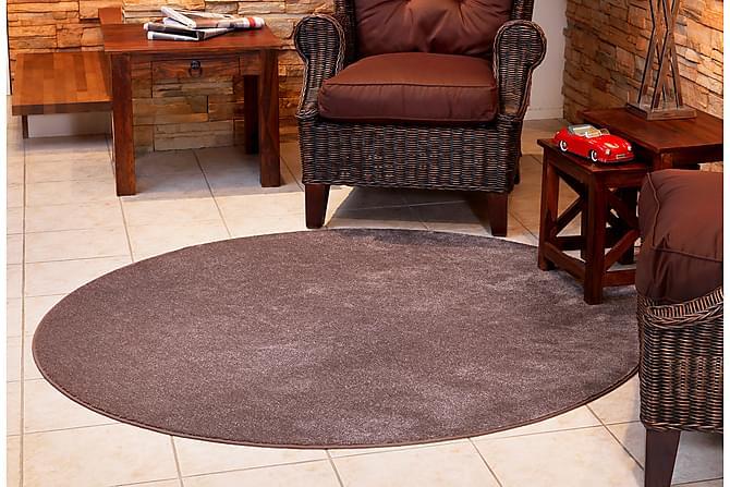 Matto Satine Pyöreä 160 cm Ruskea - VM Carpet - Sisustustuotteet - Matot - Pyöreät matot