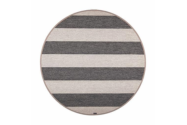 Matto Viiva Pyöreä 133 cm Musta/Beige - VM Carpet - Sisustustuotteet - Matot - Pyöreät matot