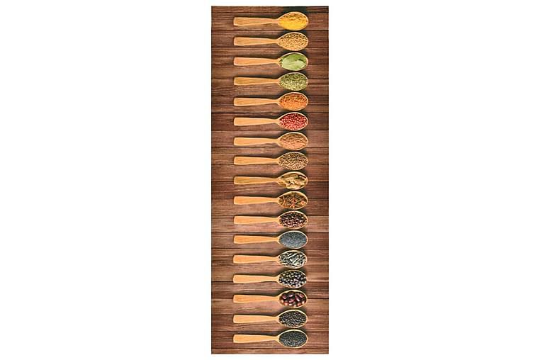 keittiön pestävä lattiamatto Spoon 60x180 cm - Monivärinen - Sisustustuotteet - Matot - Räsymatot