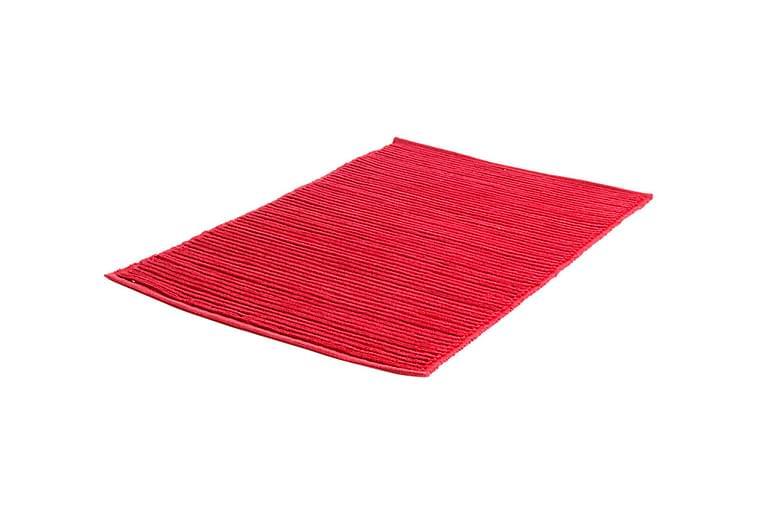 Puuvillamatto Ribb 60x90 Punainen - Etol - Sisustustuotteet - Matot - Räsymatot