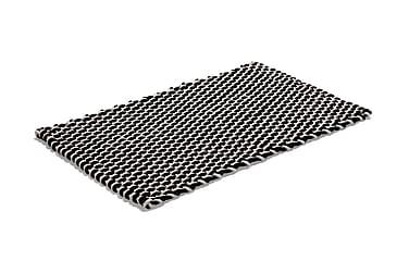 Puuvillamatto Rope 50x80 Luonnonväri/Musta
