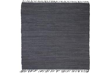 Käsin kudottu Chindi-matto puuvilla 160x230 cm antrasiitti