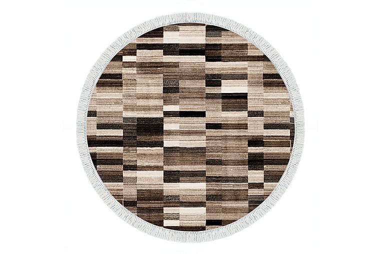 Matto Alanur Home 160x160 cm - Ruskea/Beige/Kermanvalkoinen - Sisustustuotteet - Matot - Isot matot