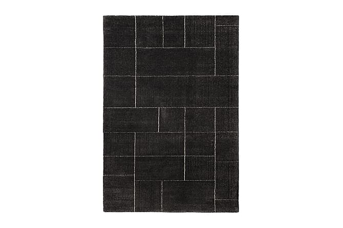 Matto Nordic Square 133x190 - Tummanharmaa - Sisustustuotteet - Matot - Isot matot