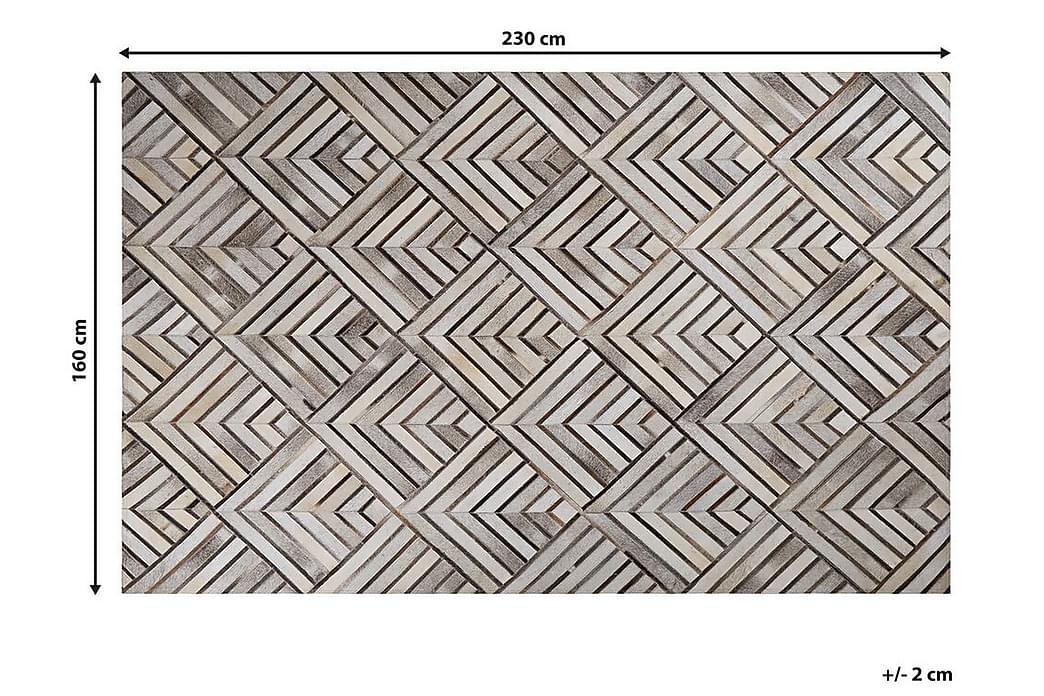 Matto Quadeshia 160x230 cm - Beige/Nahka - Sisustustuotteet - Matot - Taljat ja nahkamatot