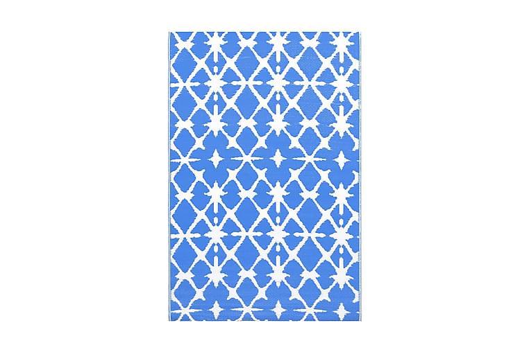 Ulkomatto sinivalkoinen 190x290 cm PP - Sisustustuotteet - Matot - Ulkomatot