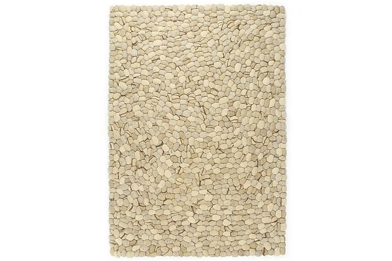 Matto villahuopa pikkukivet 120x170 cm beige/harmaa/ruskea - Beige - Sisustustuotteet - Matot