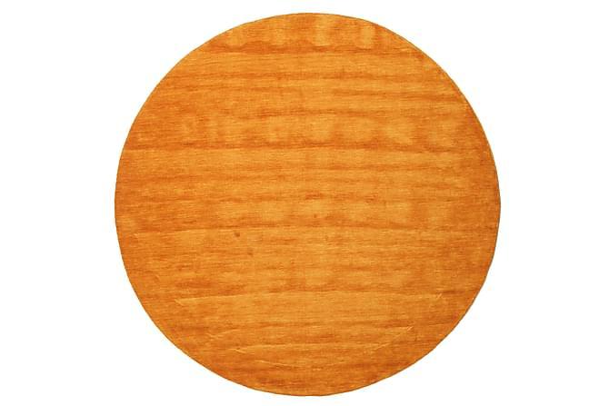 Suuri Pyöreä matto Handloom Ø200 - Oranssi - Sisustustuotteet - Matot - Yksiväriset matot